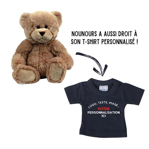 Peluche Ours personnalisable mini t-shirt