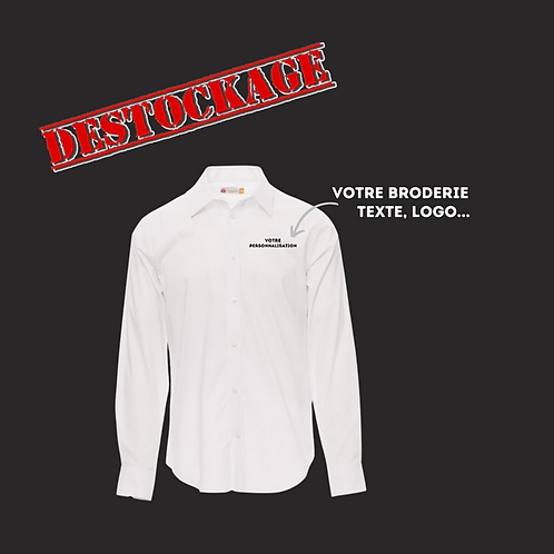 chemise personnalisable blanc broderie