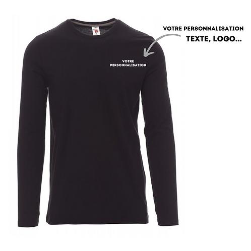 t-shirt manches longues personnalisable noir