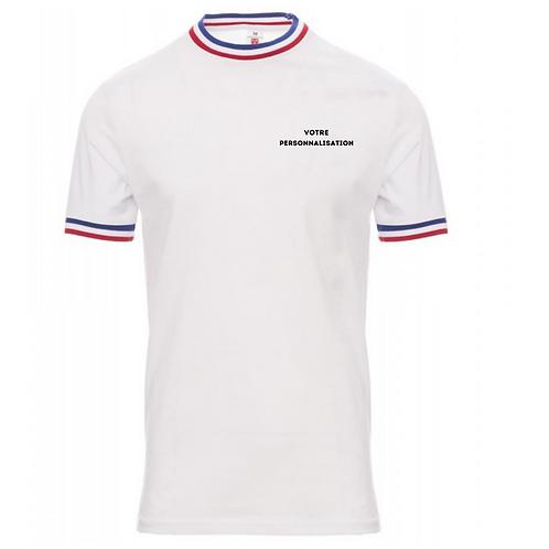 T-shirt personnalisable tricolore bleu blanc rouge homme XL