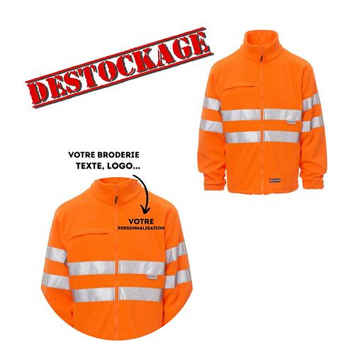 Veste à haute visibilité personnalisable orange L