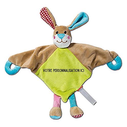 Doudou personnalisable bébé lapin