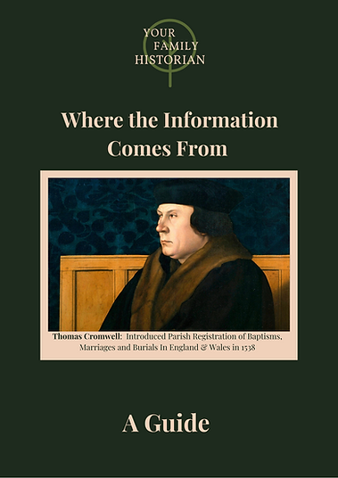 Free Guide - Where the Information Comes