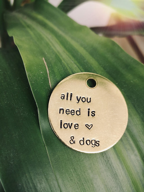 All You Need Is Love & Dogs Keychain