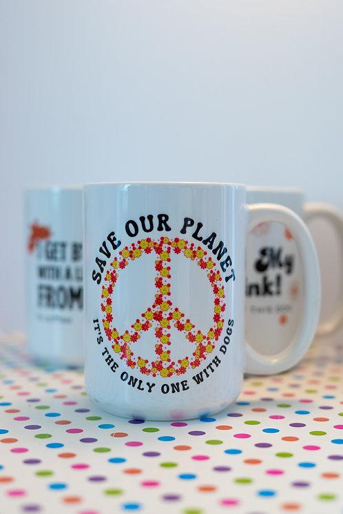 Save Our Planet Retro Mug