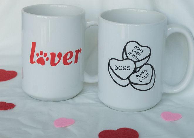 Valentines Day Dog Mom Mugs
