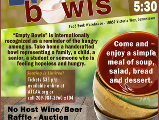 Empty Bowls Event to Raise Funds and Awareness at the ATCAA Food Bank