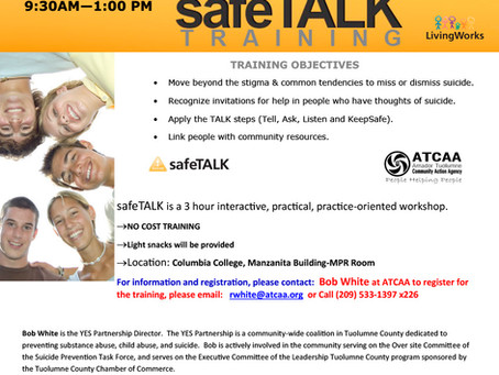 Suicide Alertness Training Coming to Columbia College