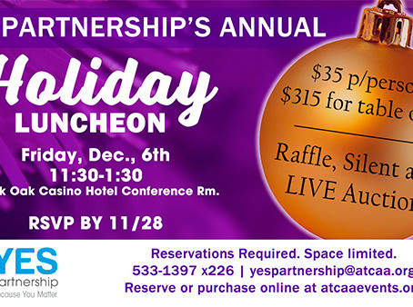Annual Holiday Luncheon set for December 6th