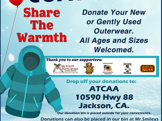 Share the Warmth Winter Coat Drive in Amador County