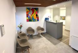 Salon d'attente du cabinet Prodigue : endodontie et stomatologie