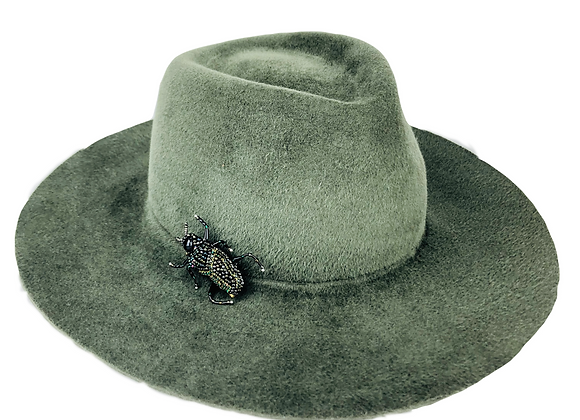Mid Fedora with Insect