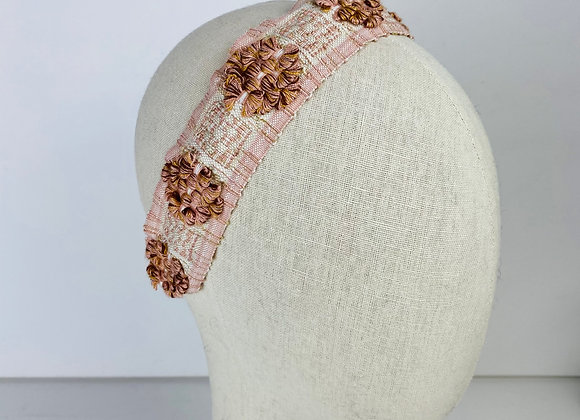 Vintage Ribbon Floral Headband