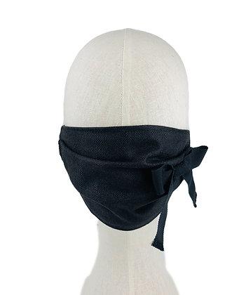 Silk Tweed Bow Mask