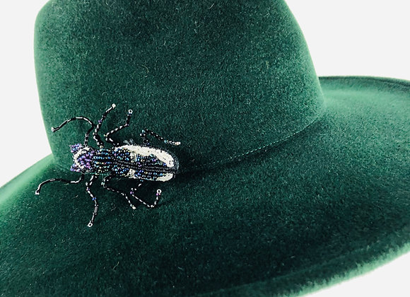 Wide Brim Fedora with Insect