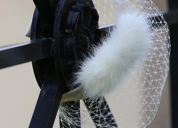 Fur Bow Veil