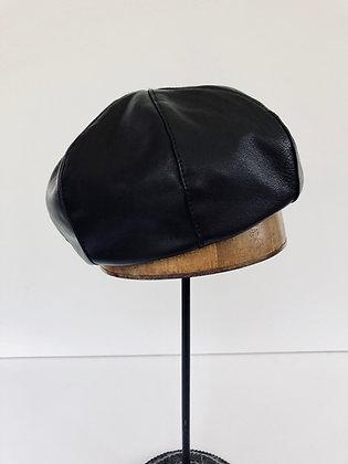 Soft Leather Beret
