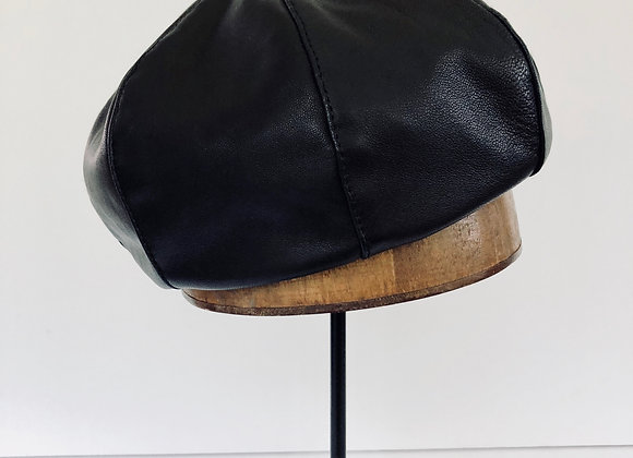Soft Leather Beret