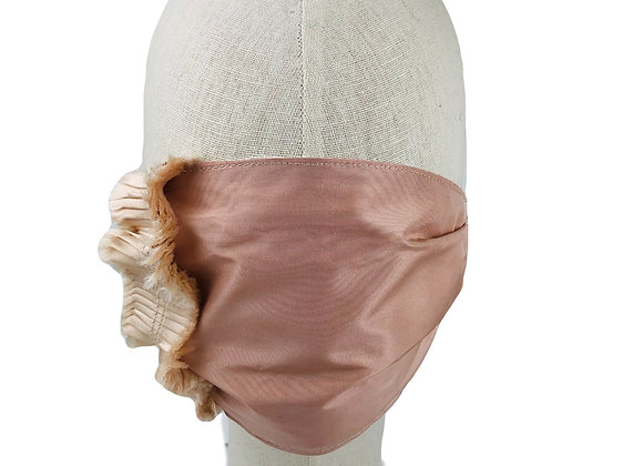 Silk Taffeta Rouched Face Covering