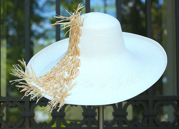 Raffia Cascade Hat