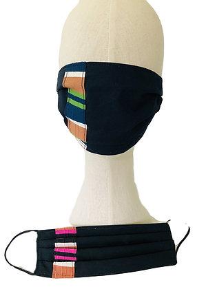 French Stripe Ribbon Mask