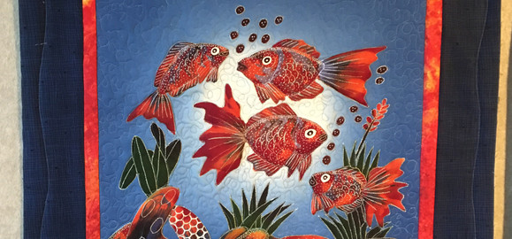 Orange Fish Wallhanging