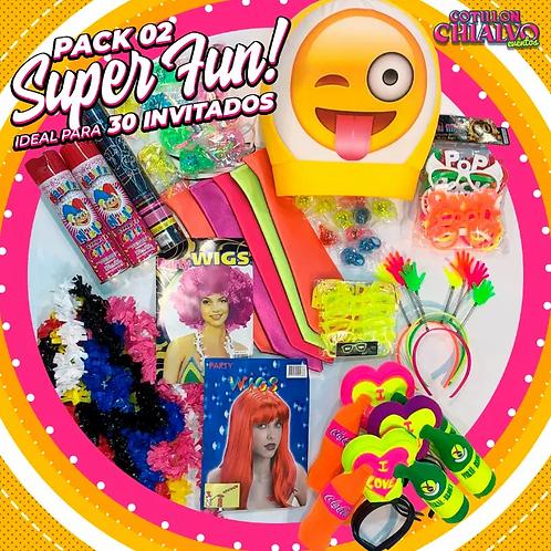 Pack 02 Super Fun! para 30 Invitados