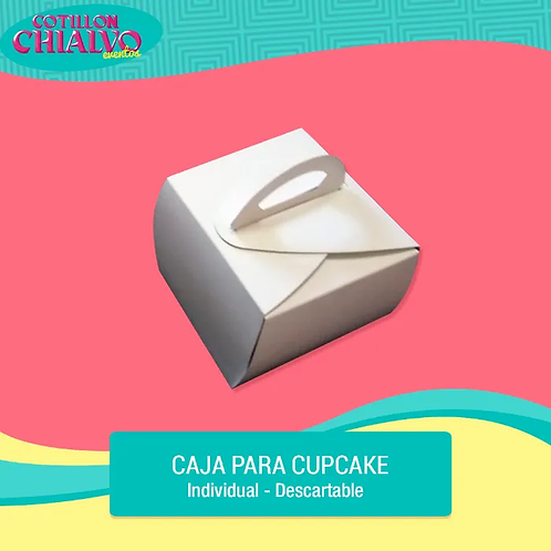 Caja para Cupcake Individial
