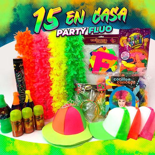 """Party Fluo """"15 en Casa!"""""""