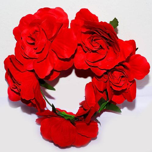 Vincha Flor 6 Rosas