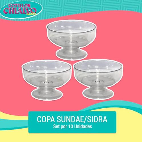 Set de Copas Sidra / Sundae x 10