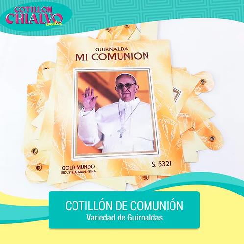 """Guirnaldas para Comunión """"Papa Francisco"""""""