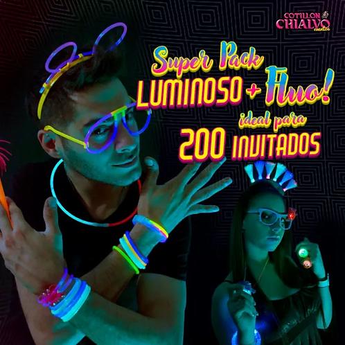 Pack FLUO + Luminoso 200 Invitados!