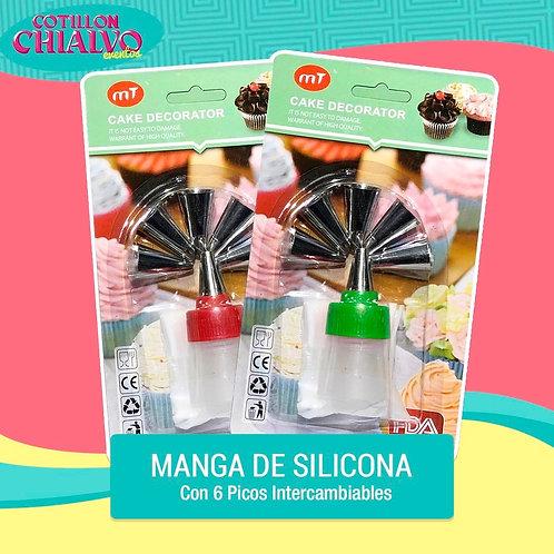 Manga de Silicona + Set de Picos