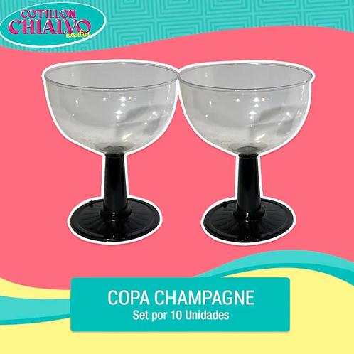 Set Copas Circular de Champagne x 10
