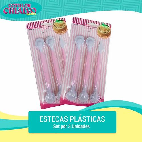 Set de Estecas Plásticas x 3u