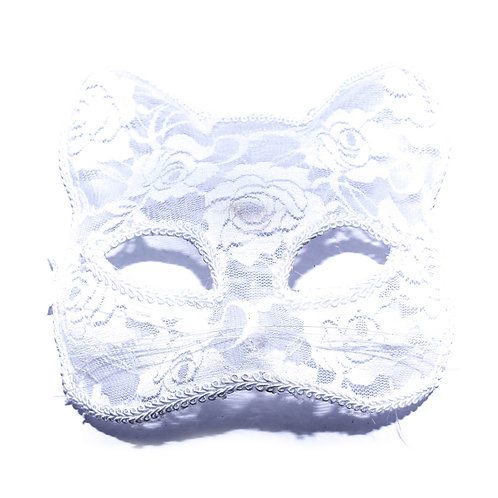 Antifaz Blanco Felino