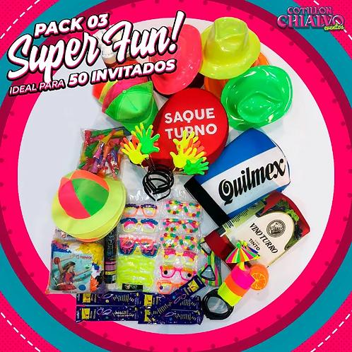 Pack 03 Super Fun! para 50 Invitados