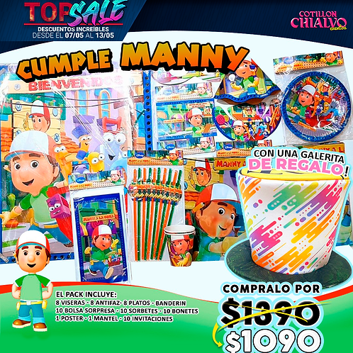 Pack cumpleaños manny + galerade regalo