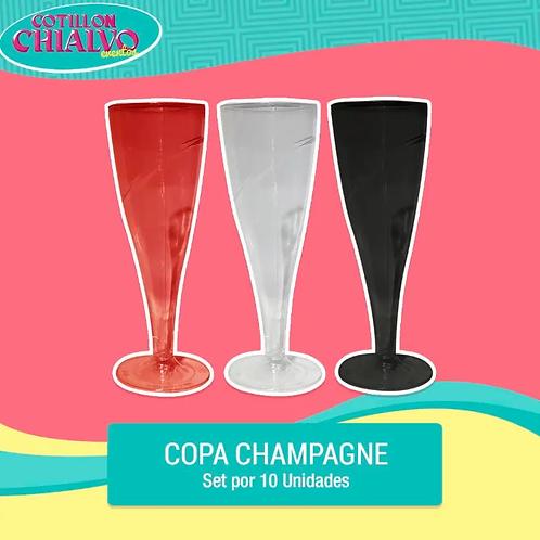 Set de Copas de Champagne x 10