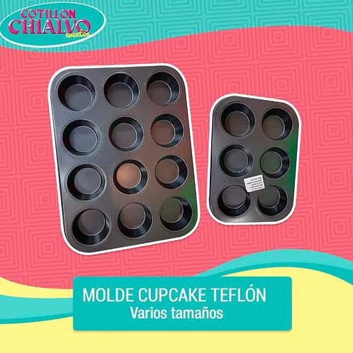 Molde Cupcake de Teflón