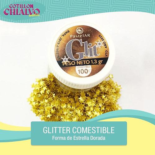 """Glitter Comestible """"Estrella Dorada"""""""