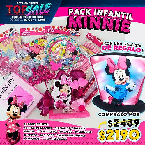"""Combo Cumple """"Minnie"""" +galera de regalo"""