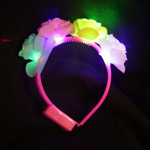 "Vincha LED ""4 Flores"""