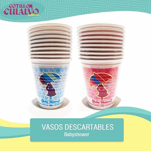 Vaso Descartable para Baby Shower