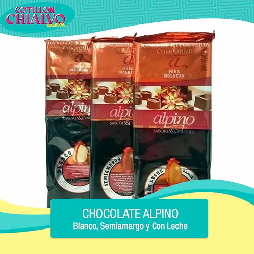 "Chocolate para Moldear ""Alpino"" 500gr"