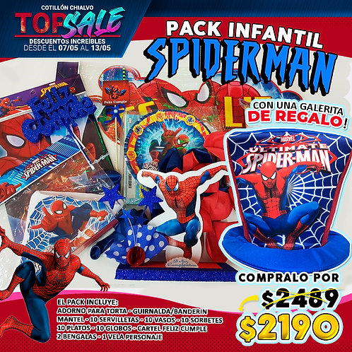 "Combo Cumple ""Spider-man"" + galera de regalo"