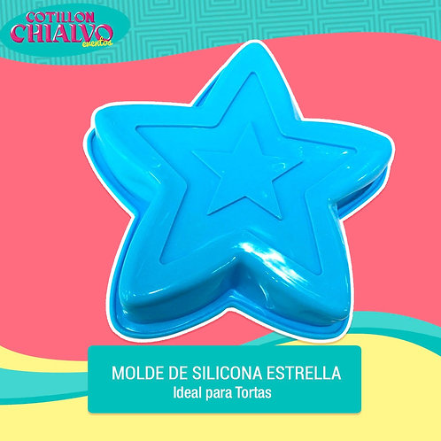 """Moldes """"Estrella"""" de Silicona"""