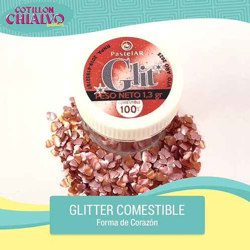 "Glitter Comestible ""Corazon"""