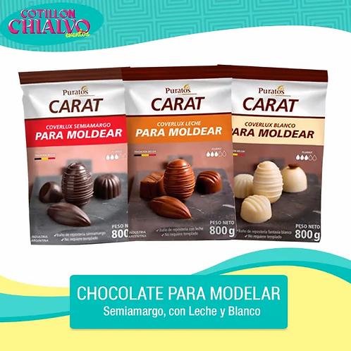 """Chocolate para Modelar """"Carat"""" 800gr"""